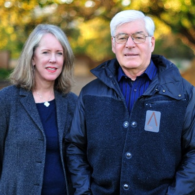 Mac and Leslie McQuown, founding owners of the Stone Edge Farm Microgrid