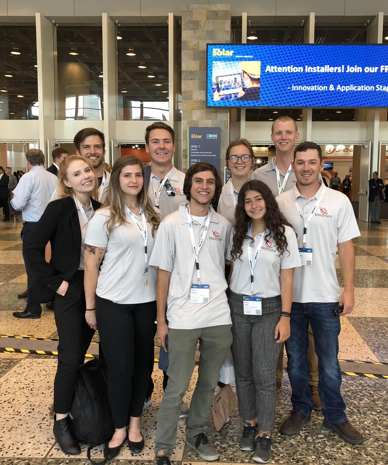 The Summer 2017 intern team at the annual Intersolar convention.